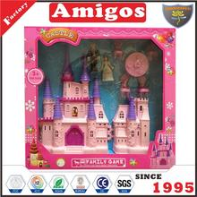 good quality castle with doll furniture toy house for kids