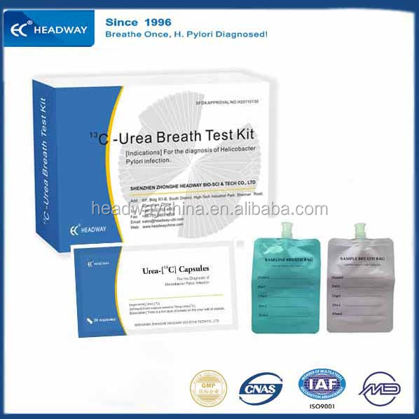 Headway! C13 Urea Breath Test kit for In Vitro Diagnostic HP