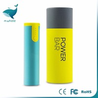 2017 trading hot sale Mini 2600mah power bank With Strong LED Light