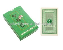 Newest selling custom printed green back playing cards poker cards