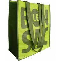 High quality recyclable pp woven tote bag with custom print,OEM orders arewelcome