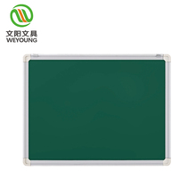 aluminum frame writing magnetic green chalk board in classroom school