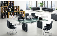 modern black glass conference table(F-22)