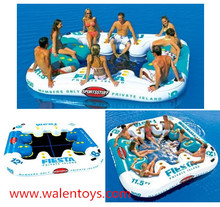 Best quality Fun world multiplayer inflatable tropical floating island