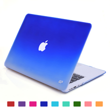 Fade to white matte carrying hard shell case for Macbook Air 13.3 inch A1466 & A1369 (Ocean Blue)