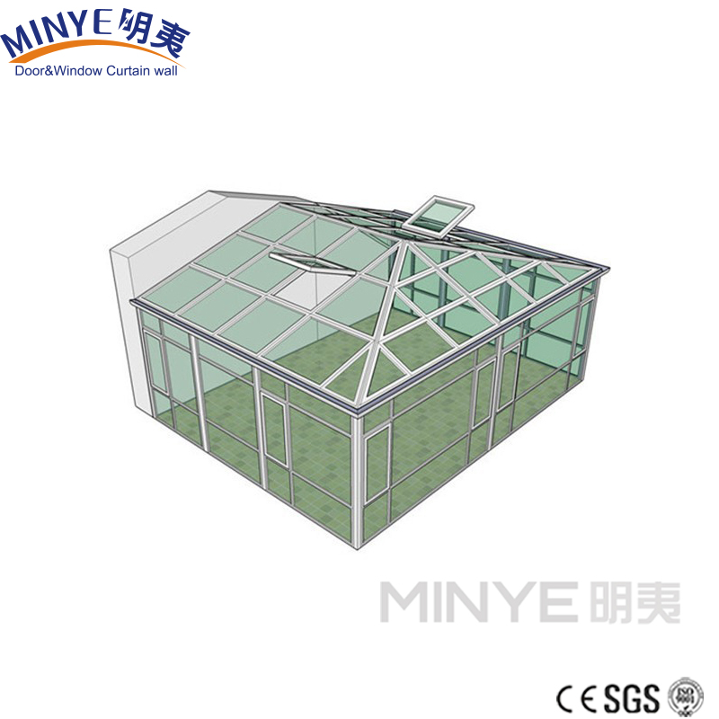 New design sun room/ sunroom/glass house/winter garden/greenhouse made in china shanghai