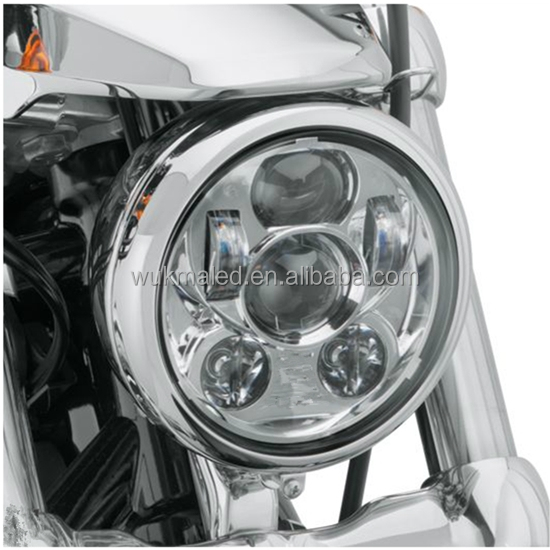 "5.75"" 5 3/4 Inch Motorcycle Headlight 45W LED Round H4 Projector Daymaker Head Lamp For Harley/ Harley Headlights"