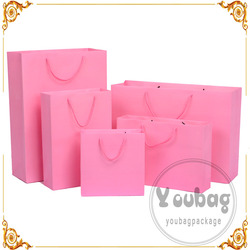 Hot sale machine made paper brand shopping bags with logo