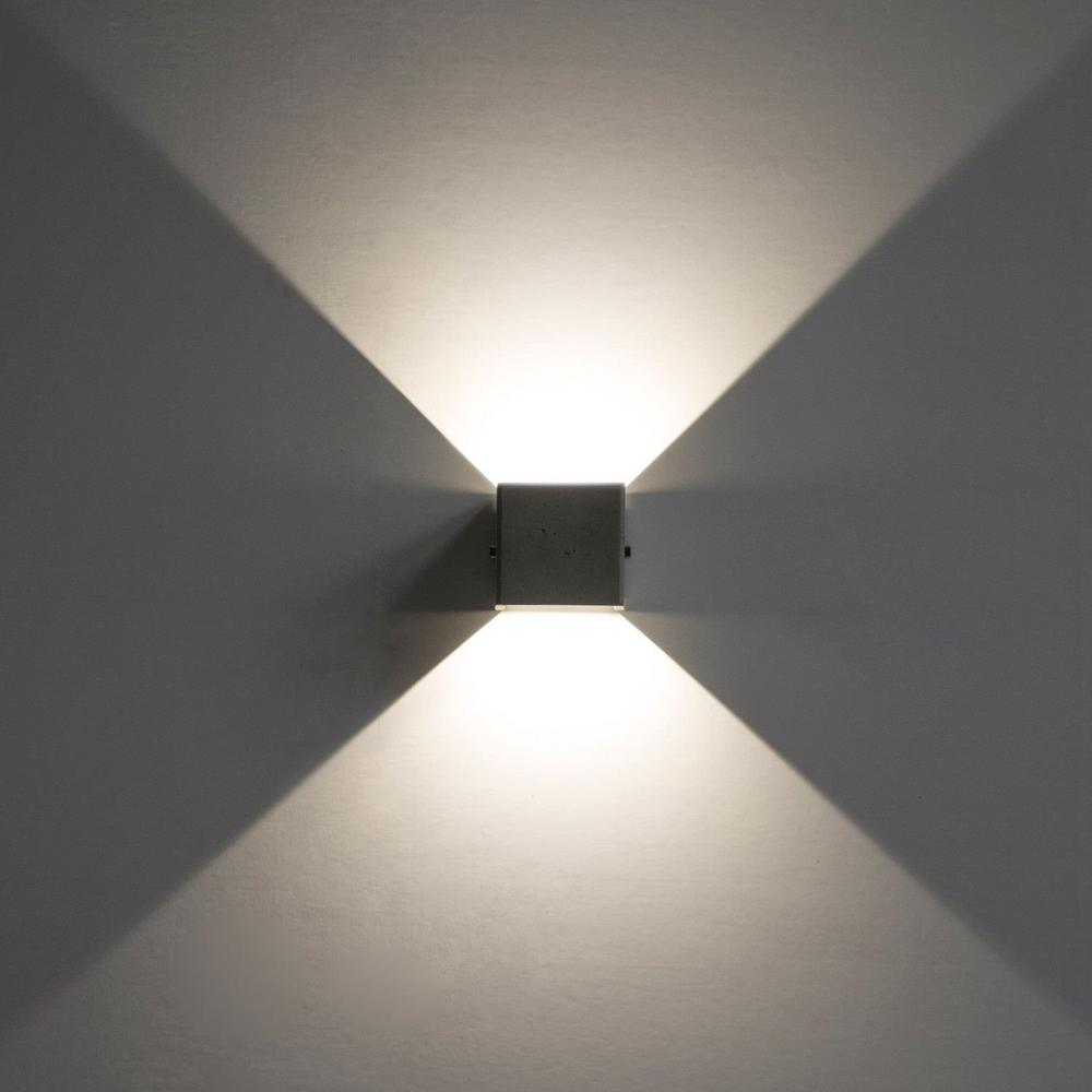 Modern concrete Waterproof led outdoor wall lamp square gray