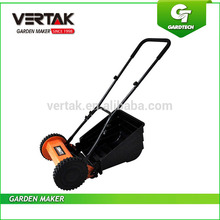 Hand push lawn mower type lawn roller