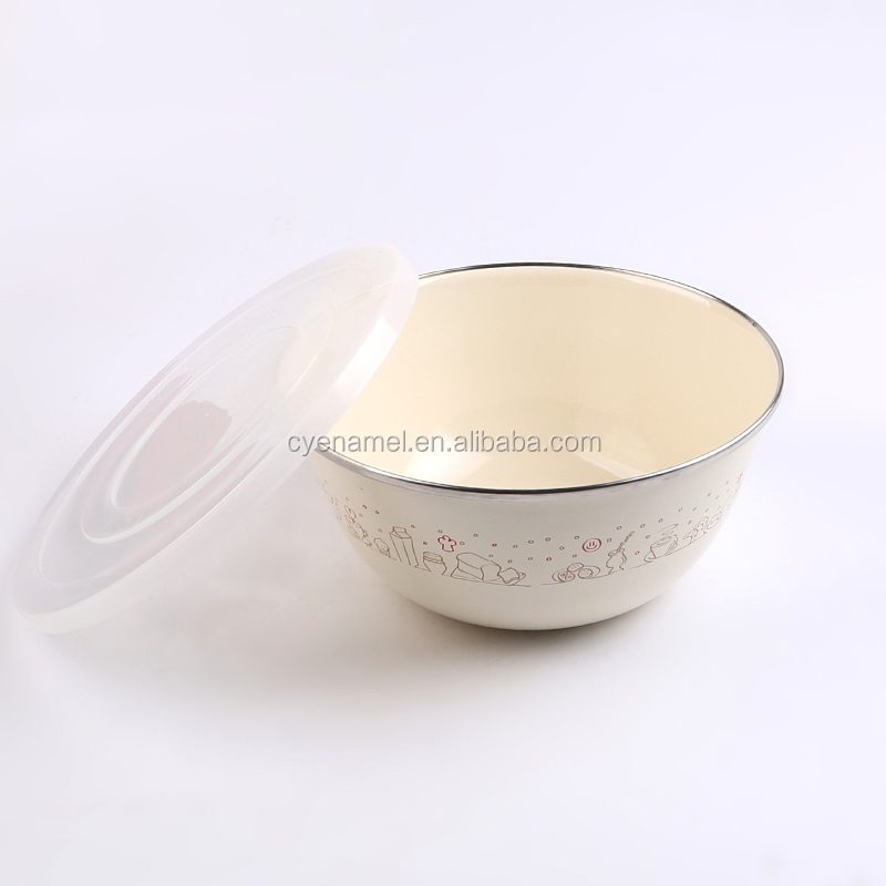 Enamel Tableware Storage Bowl 5pcs In Set