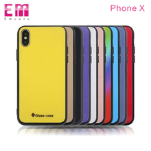 Amazing Design Tempered Glass 2 in 1 TPU+Tempered Glass Phone Case for iPhone X