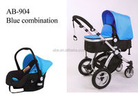 2014 new design 3 in 1 aluminum with carry cot and car seat baby stroller