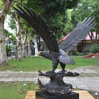 Hot sale high quality brass eagle statue for home decoration