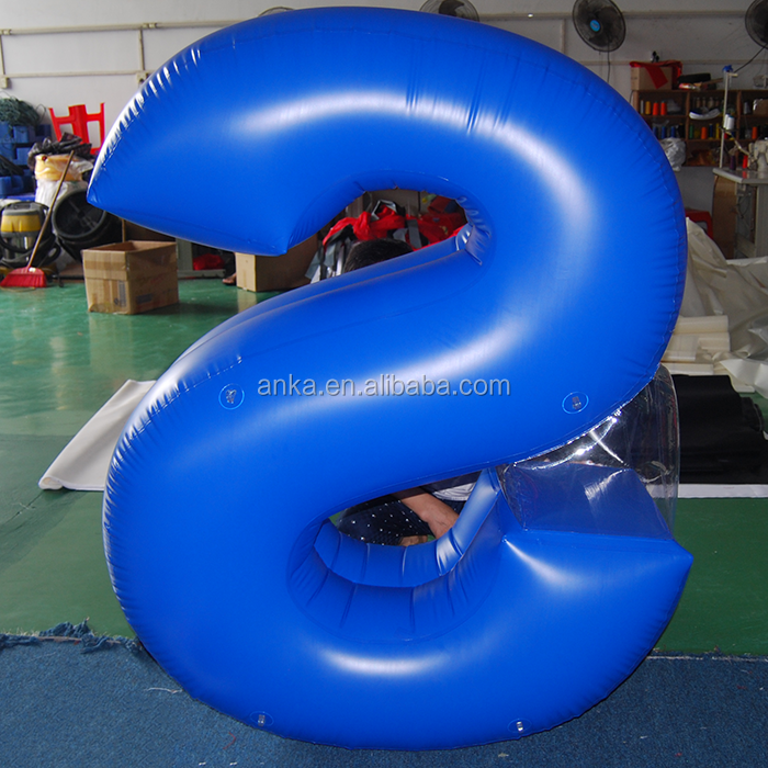Customized inflatable word model for advertising
