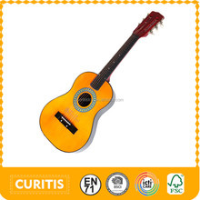 30 inch 6 stringed music instrument yellow wooden toys guitar,play toy kid,happy kid toy