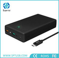 High Capacity 20000mAh power bank with black color