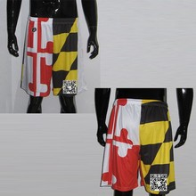 Wholesale Custom Polyester Mens Basketball Shorts With Subulimation
