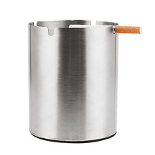 Wholesale Custom LOGO stainless steel Round Shape Cigarette Smoking stand Ashtray cigar ashtray