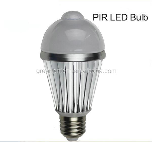 new product 220v 110v led sensor light bulb 7w with e27 e26 b22