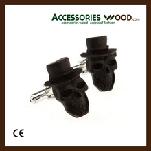 2016 wood cufflinks with high quality and various designed cufllinks