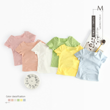 YE51061 summer 2018 solid color baby children short-sleeved t-shirt