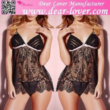 Hot Sexy Flirting Sheer Lace Babydoll Nighty Dress Picture