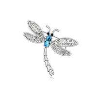 Rhinestone brooches for wedding invitations,fashion dragonfly brooch
