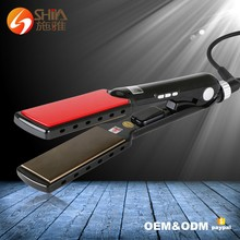 Professional 1.5 inch top salon 450F <strong>best</strong> nano titanium custom flat iron electric <strong>hair</strong> <strong>straightener</strong> on the market