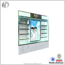new design cosmetics display stand with light box