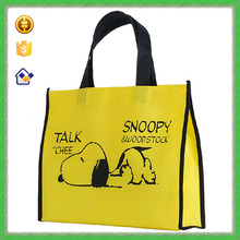 YTF-P-GWD066 Cute Dog Printing Yellow Non-woven Pet Store Shopping Bag