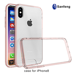 free sample new design plastic pc tpu smart phone case for IPhone 8