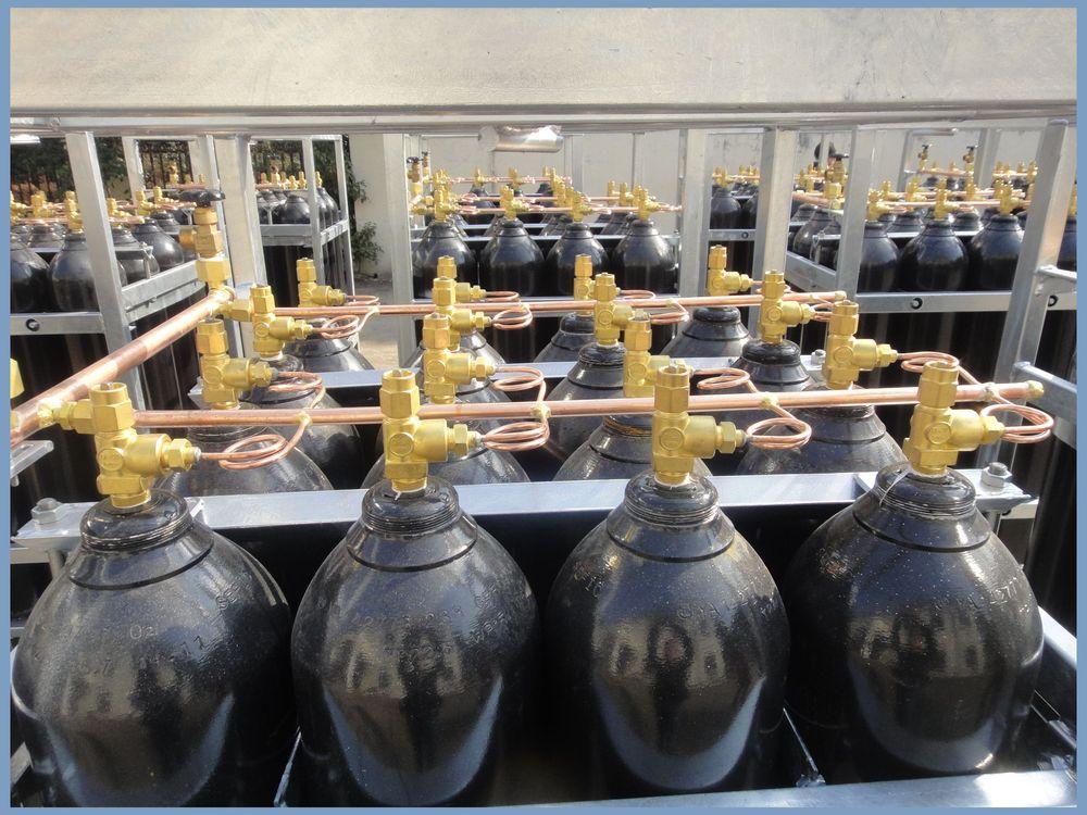 Dnv Offshore Used Mobile Nitrogen Cylinder Rack With 16 18