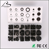 "Rubber hole plugs grommets kits 3/8"" blister packing"