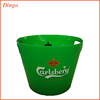 Colourful clear plastic wine cooler beer ice bucket with logo printing