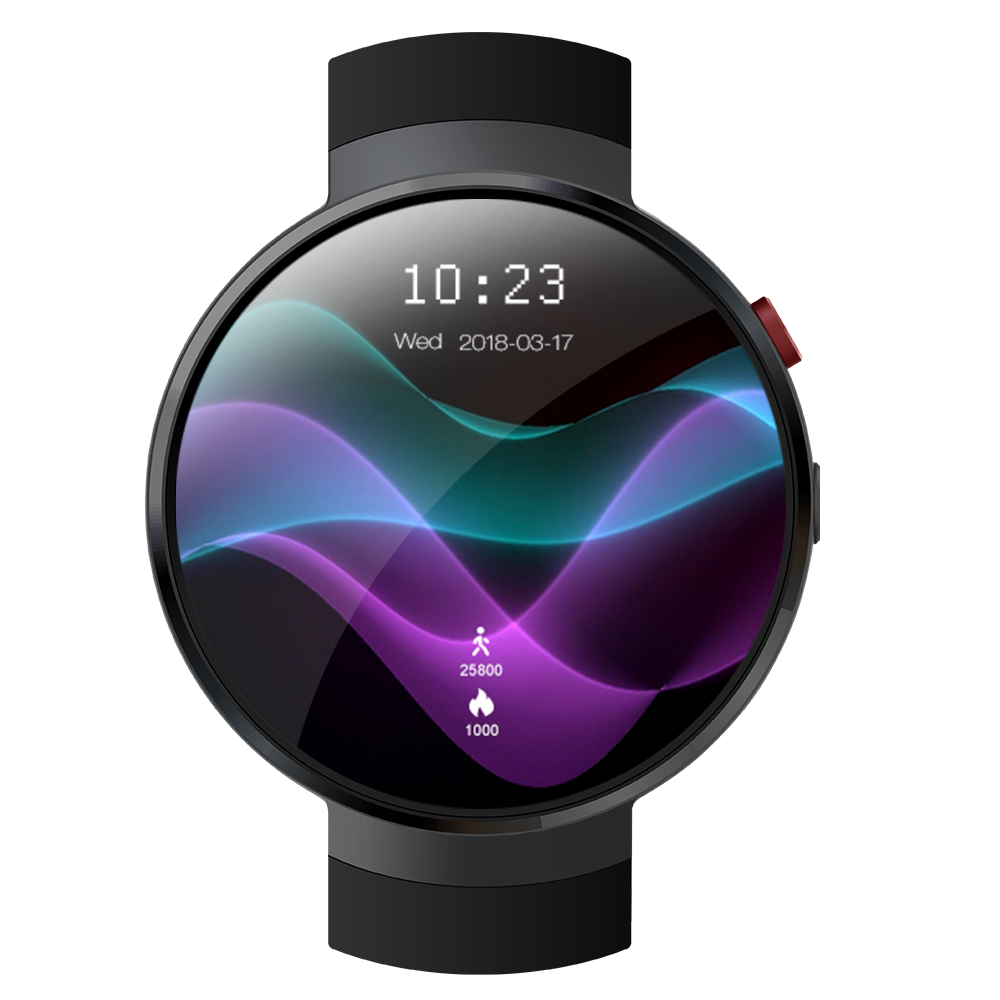 Lem7 waterproof <strong>1</strong>.39inch <strong>1</strong>+16GB round android 7.0 gps 4g blood pressure lemfo Smartwatch