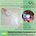 CD sticker label, matte