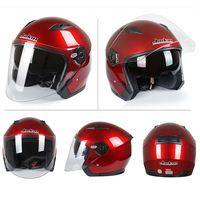 Bright Color looking Motorcycle Scooter Helmets One in Four Open Face Half Summer Helmet with Goggle Mask