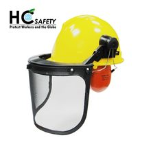 H101WM CE ANSI AS NZS Taiwan products Ho Cheng forestry safety helmet ear muffs factory