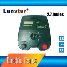 Solar electric fence energizer for animal dogs farm equipment