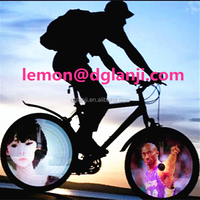 216LED 100 cool patterns DIY video programmable bicycle bike lights