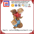 2017 wholesale resin cute animal statue for garden decoration