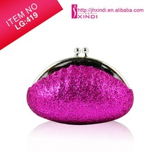 Cheap Safe lip balm with glittering purse case OEM lip balm Cute promotional lip balm