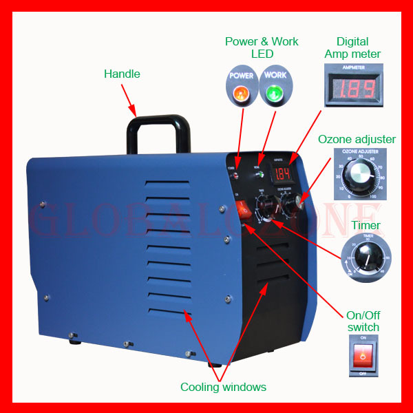 Portable Ozone Generator Air Sterilizer Device with CE Certification