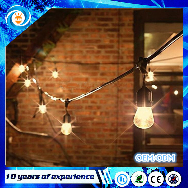 48ft 15sockets Outdoor Water Proof Commercial Patio Industrial Edison String Lights outdoor lighting patio string light