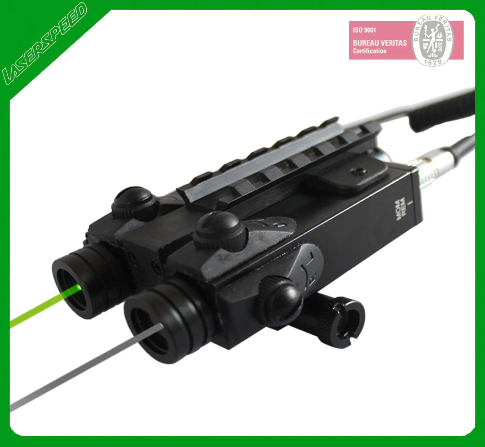 Super low temperature resistant 100mW tactical hunting green laser flashlight