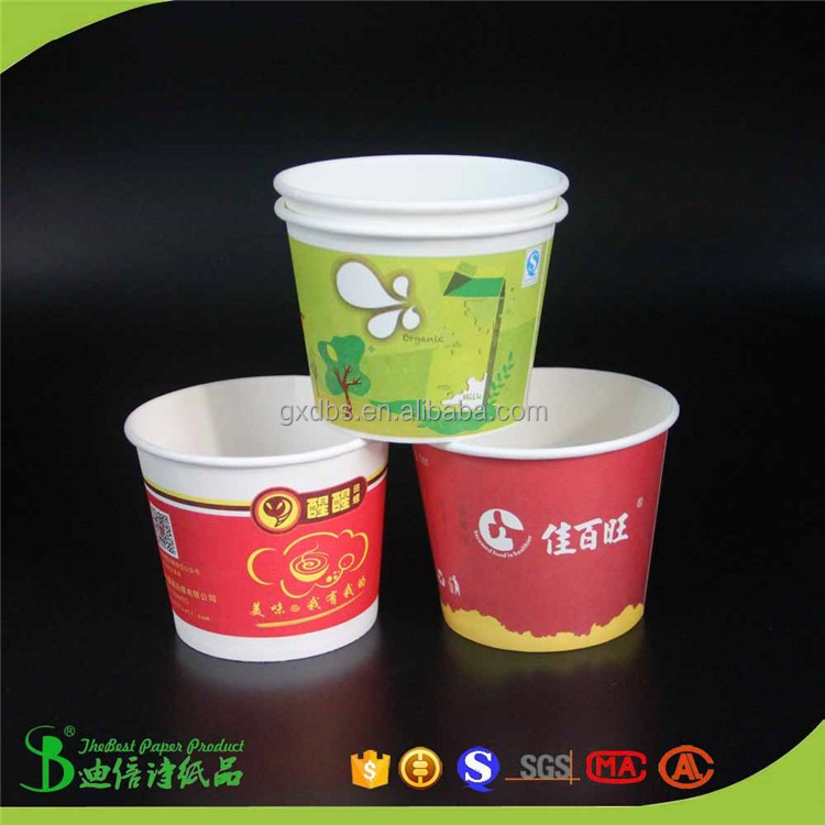 Hot sell 360ml 500ml Brazil food chains Paper Cups and bowls with printing