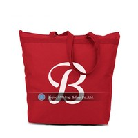 Red shiny wholesale canvas cosmetic bag