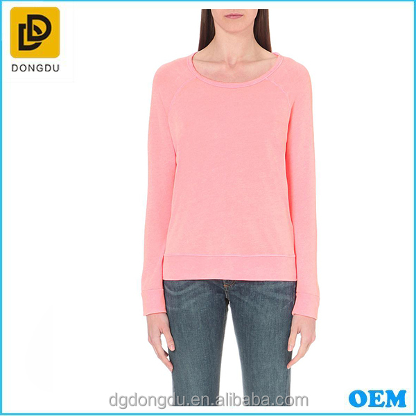 2016 Cheap High Quality women sweet pink custom plain lady hoodies