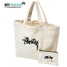 custom wholesale canvas cotton tote bag no minimum with custom printed logo